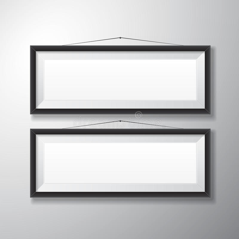 Bilderrahmen-Schwarzes Horizontal Stock Abbildung - Illustration von ...