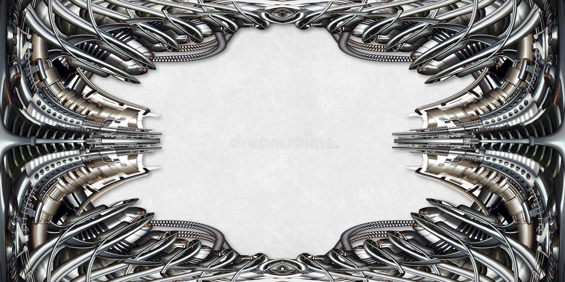 Bilderrahmen technisch im Silber lizenzfreie stockbilder