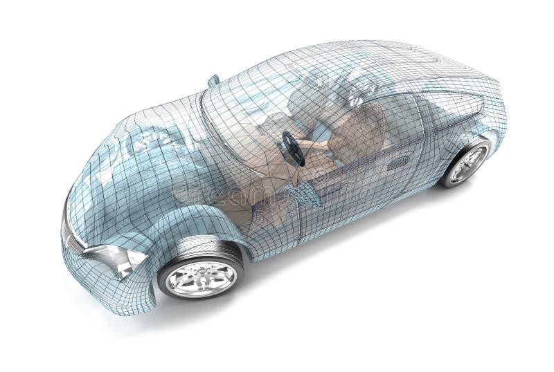 Bildesign, trådmodell stock illustrationer