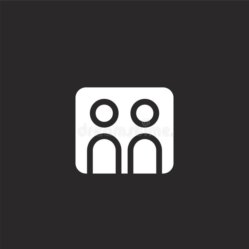Bildikone Gefüllte Bildikone für Websiteentwurf und Mobile, Appentwicklung Bildikone von gefüllter Nachrichtensammlung lokalisier lizenzfreie abbildung