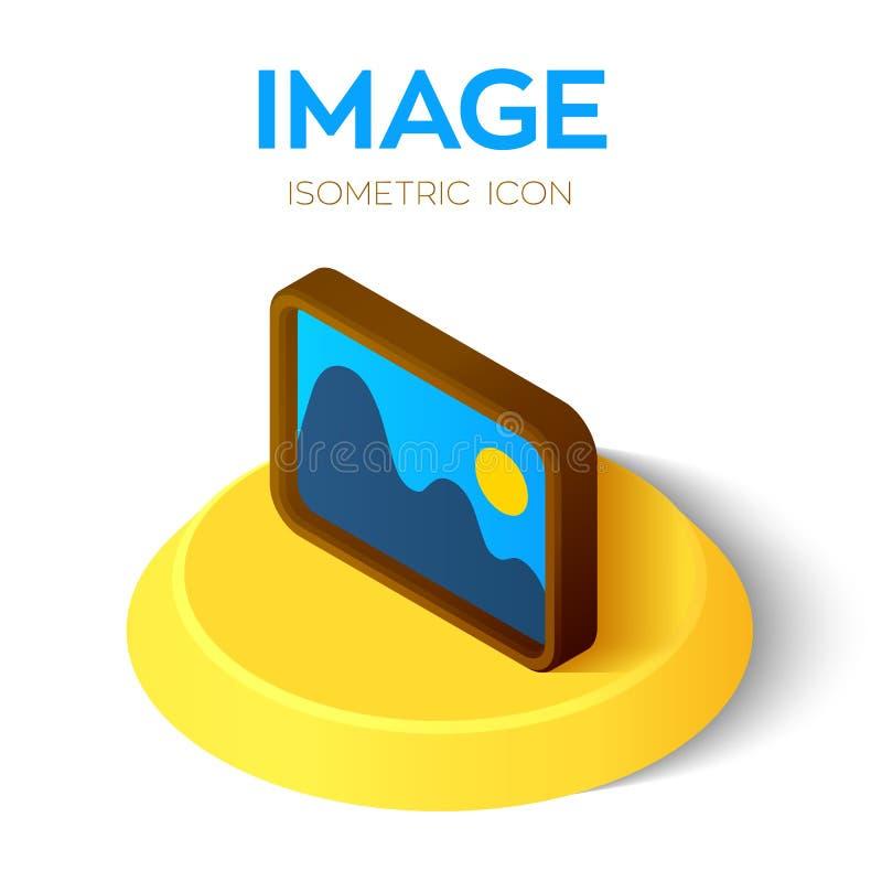 Bildikone isometrisches Zeichen des Bildes 3D oder des Bildes Geschaffen für Mobile, Netz, Dekor, Druck-Produkte, Anwendung Vervo stock abbildung