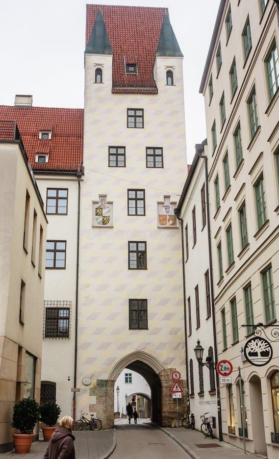 Bilding του παλαιού δικαστηρίου στο Μόναχο, Γερμανία στοκ φωτογραφία με δικαίωμα ελεύθερης χρήσης
