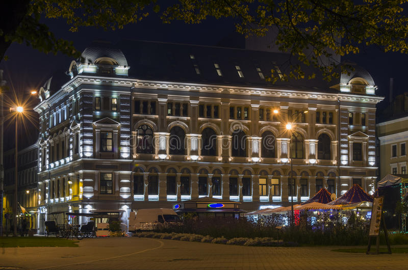 Bilding Of Russian Theatre In Riga, Latvia Royalty Free Stock Photography