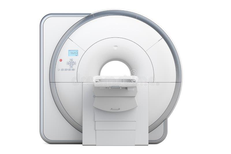Bildläsare för kopiering för magnetisk resonans för MRI, tolkning 3D royaltyfri illustrationer