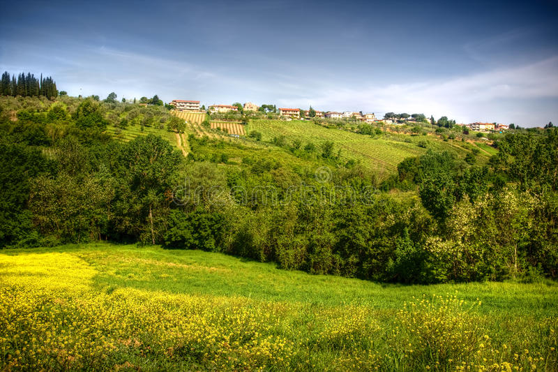 bildliggande typiska tuscan arkivbilder