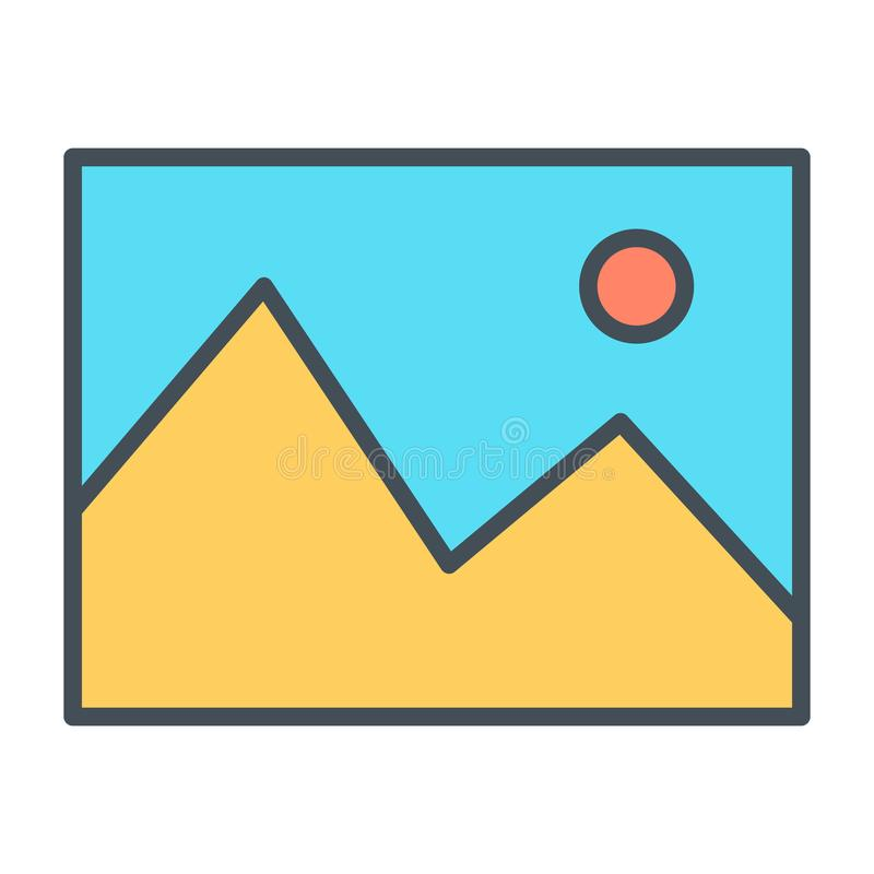 Bildlinje symbol Enkel minsta Pictogram 96x96 för vektor vektor illustrationer