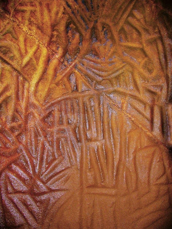 Bildmässiga handstilar av mannen för stenålder, Edakkal grottor arkivbild