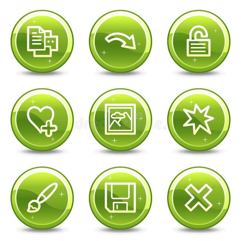 Bildprojektorweb-Ikonen stellten 2 ein lizenzfreie abbildung