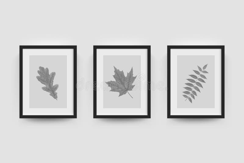 Bildram för fotografier royaltyfri illustrationer