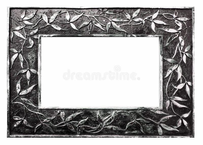 Bildram och vit bakgrund arkivfoton