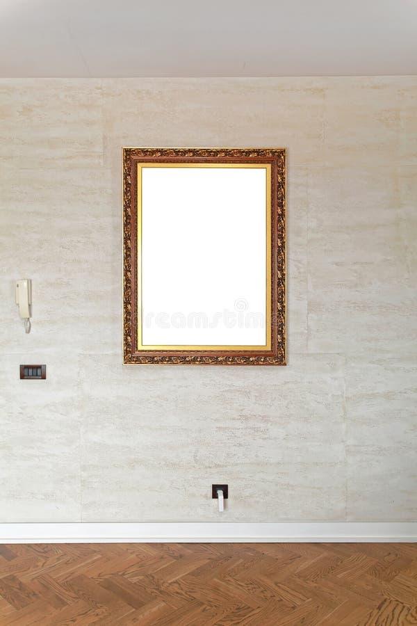 Bildram på väggen royaltyfri fotografi