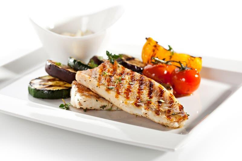 Bildreihe unterschiedliche Nahrung auf weißem Hintergrund lizenzfreies stockbild