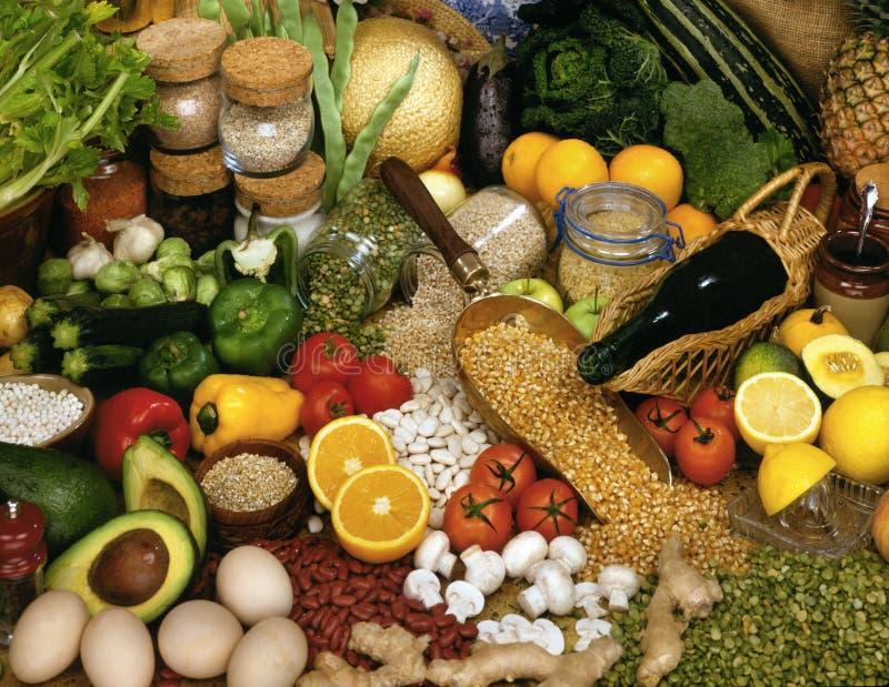 Bildschirmanzeige des Kochens von Ingedients stockfoto