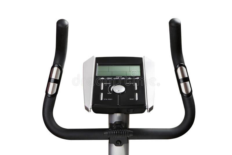 Bildskärm för idrottshallcykelmaskin royaltyfri foto