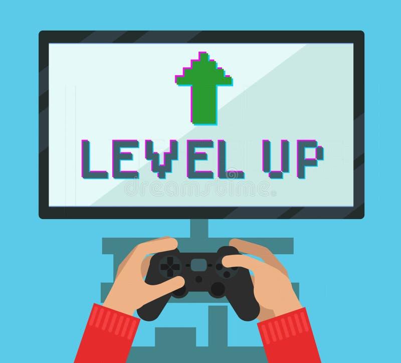 Bildskärmskärm med videospelet stock illustrationer