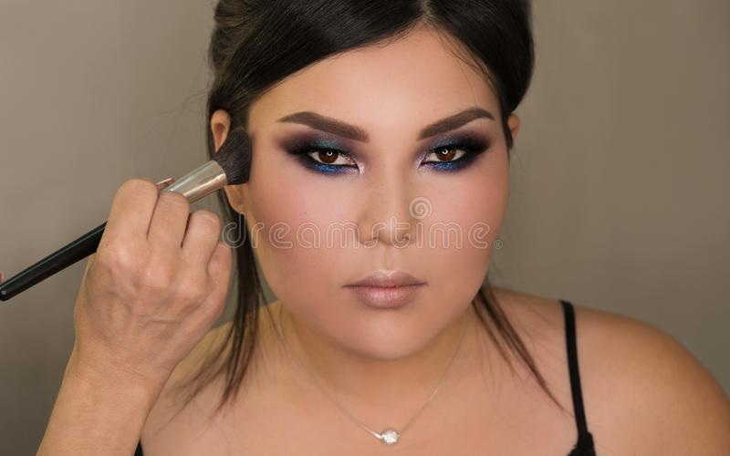 Bildskapelseprocess makeup arkivbilder