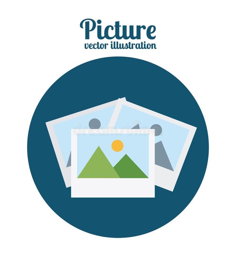 Bildsymbol vektor illustrationer
