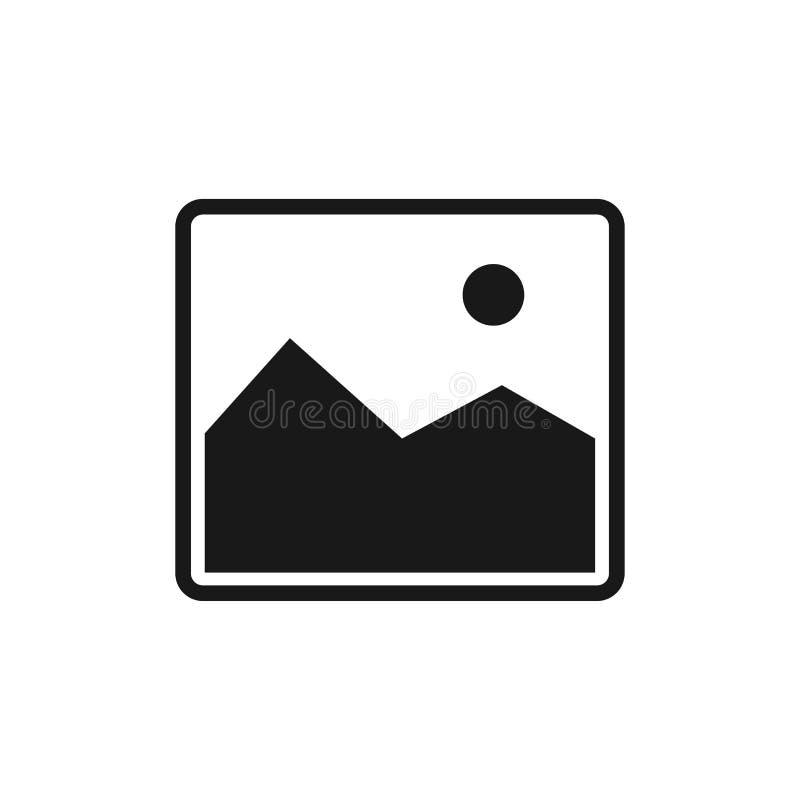 Bildsymbol som isoleras på den vita bakgrunden royaltyfri illustrationer
