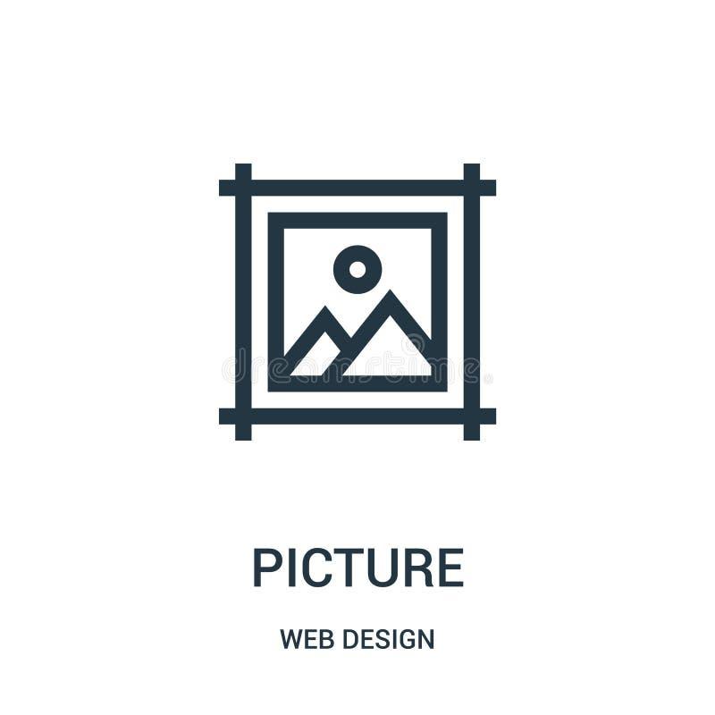 bildsymbolsvektor från samling för rengöringsdukdesign Tunn linje illustration f?r vektor f?r bild?versiktssymbol royaltyfri illustrationer