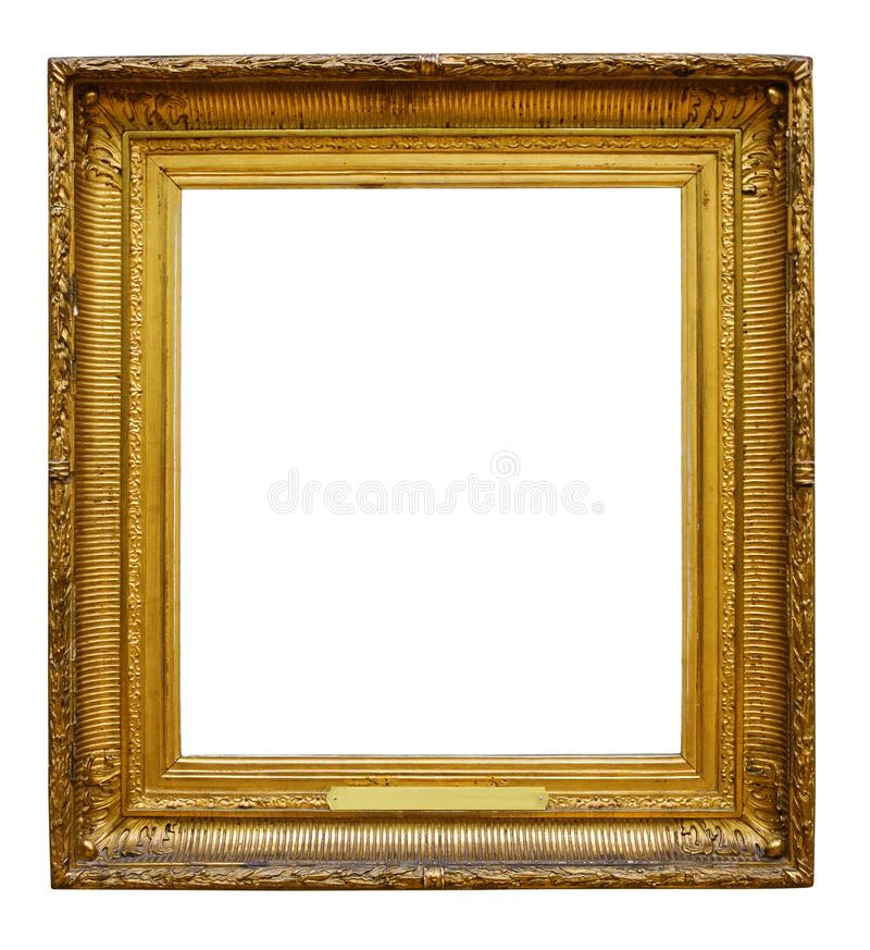 Bildtr?utsmyckad ram f?r design p? vit isolerad bakgrund arkivbilder