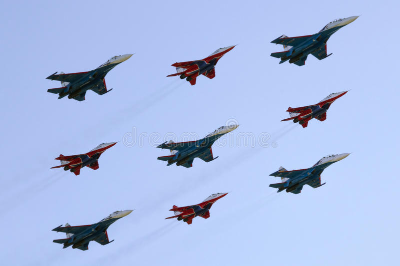 Bildung Dimond=Russian Knights+Strizhi stockbilder