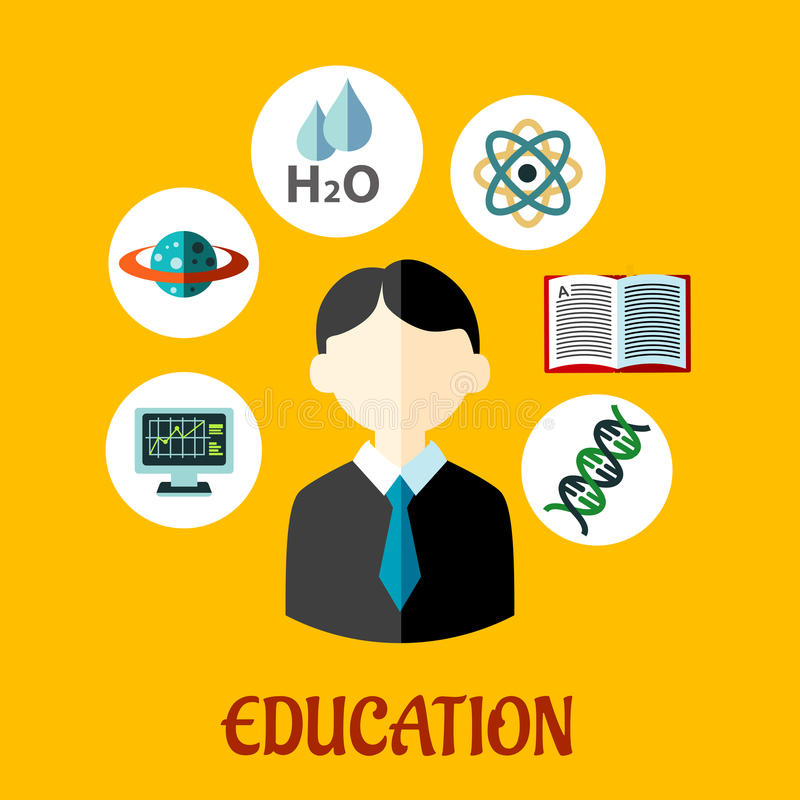 Bildung flache infographics Schablone lizenzfreie abbildung