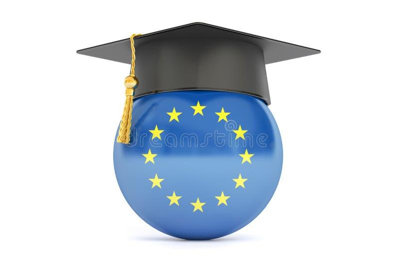 Bildung im Konzept der Europäischen Gemeinschaft, Wiedergabe 3D stock abbildung