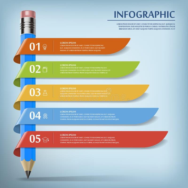 Bildung Infographic-Schablone lizenzfreie abbildung