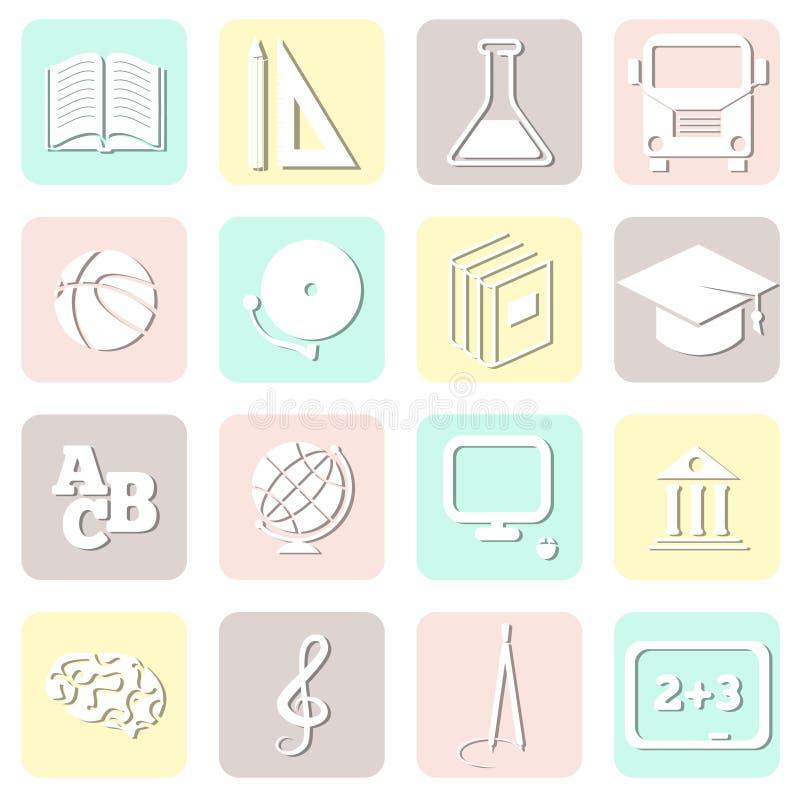 Bildung nahtlos, Schulmuster, Vektor stock abbildung