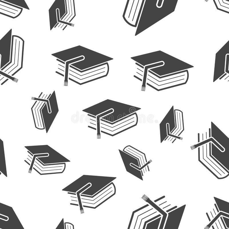 Bildung und nahtloses Muster des Buches Geschäftskonzept-Diplom-PU lizenzfreie abbildung