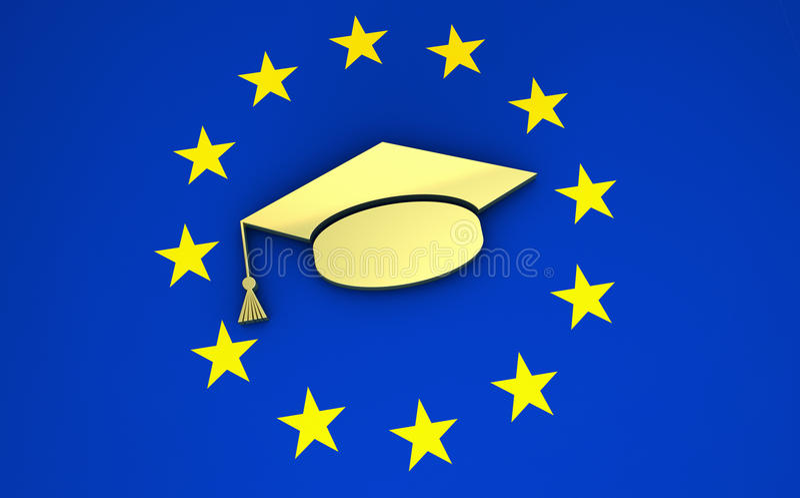 Bildung und Schulsystem in Europa lizenzfreie abbildung