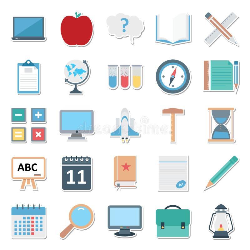 Bildungs-Farbe lokalisiertes Vektor-Ikonen-Editable Bestes für Bildungs-Projekte stock abbildung