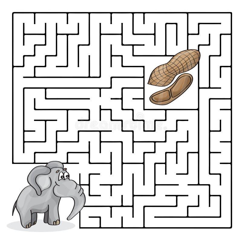 Bildungs-Labyrinth Oder Labyrinth-Spiel Für Kinder Mit Nettem ...