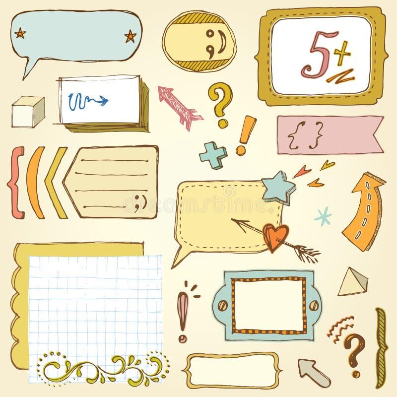 Bildungs-Rahmen vektor abbildung. Illustration von elemente - 75572286