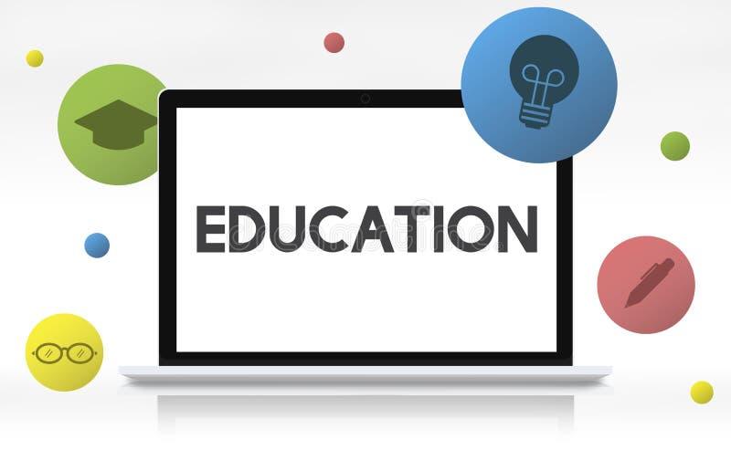 Bildungs-Wissens-Klugheit, die Schulkonzept lernt vektor abbildung