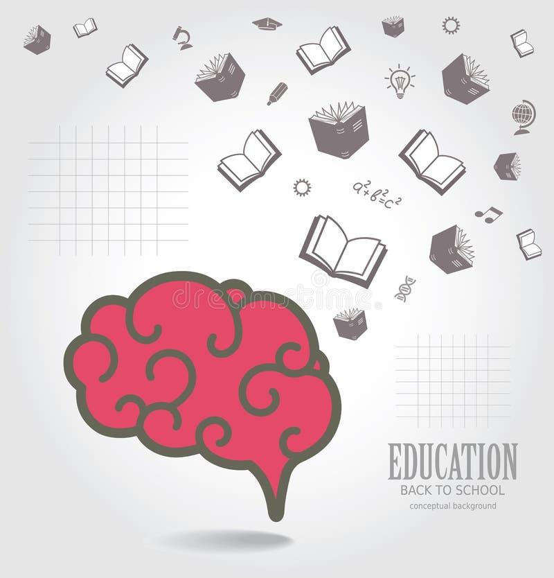 Bildungsabstrakter Begriffshintergrund vektor abbildung