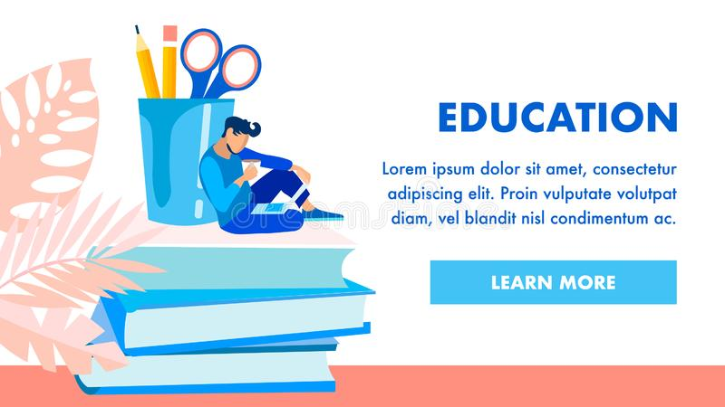 Bildungseinrichtungs-homepage-Vektor-Schablone lizenzfreie abbildung