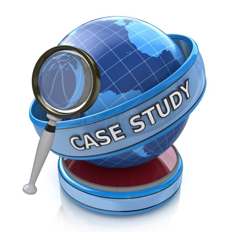 Bildungskonzept: optisches Vergrößerungsglas mit Wörter Fall-Bolzen lizenzfreie abbildung