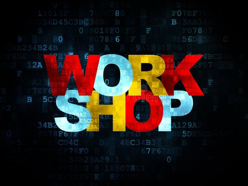 Bildungskonzept: Seminar über Digital-Hintergrund stock abbildung