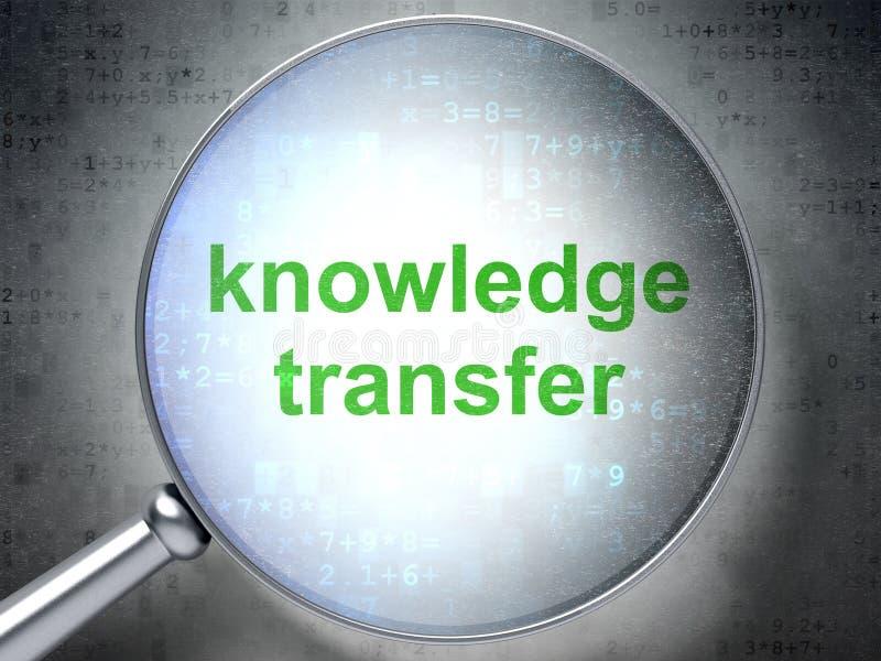 Bildungskonzept: Wissens-Übertragung mit optischem Glas vektor abbildung