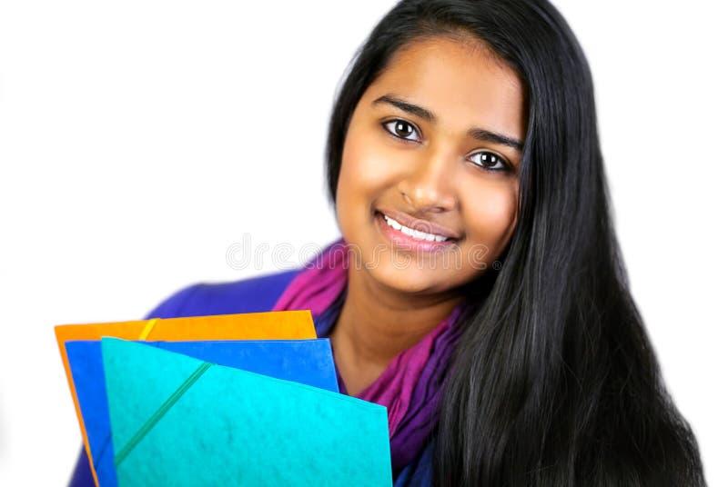 Bildungsporträt einer Indien-Frau lizenzfreie stockbilder