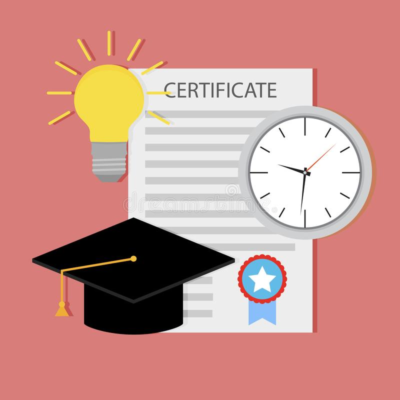 Bildungszertifikat, Anfangsunterricht lizenzfreie abbildung