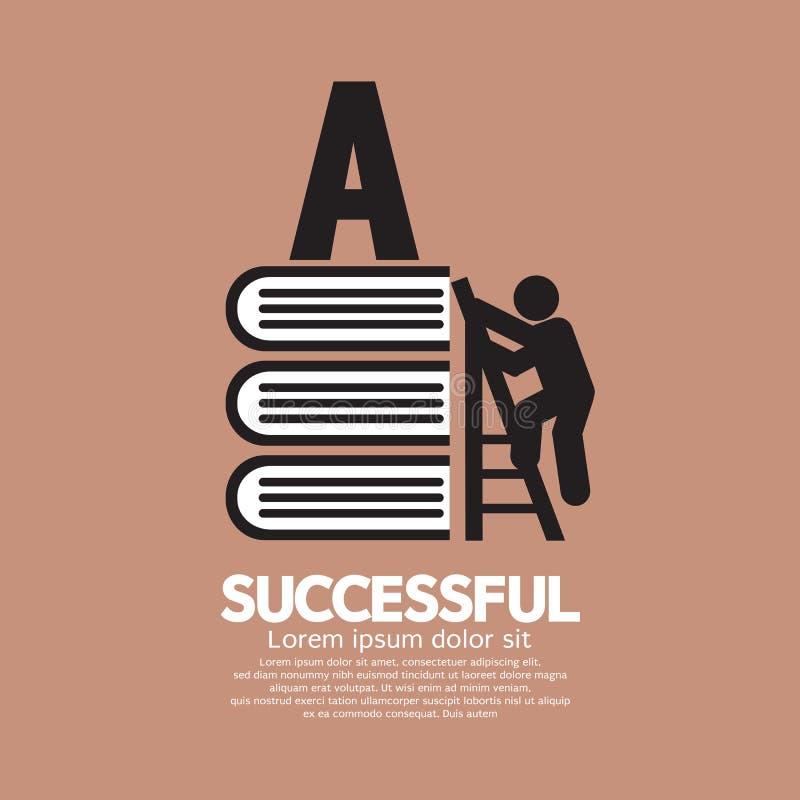 Bildzeichen-Begriffsideen von erfolgreichem stock abbildung