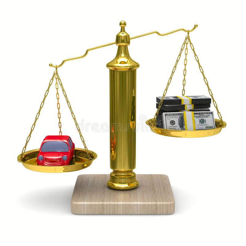bilen 3d cashes isolerade scales vektor illustrationer