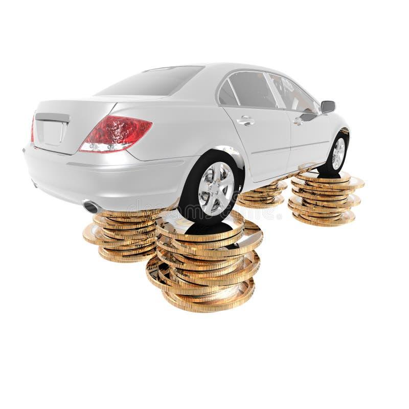 bilen coins dollarlyx stock illustrationer