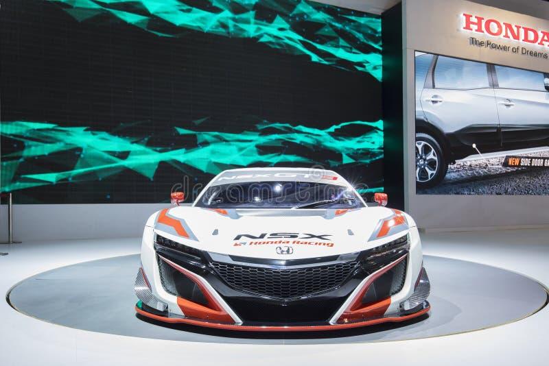 Bilen för NSX GT3 ser elegant på händelsen arkivbilder