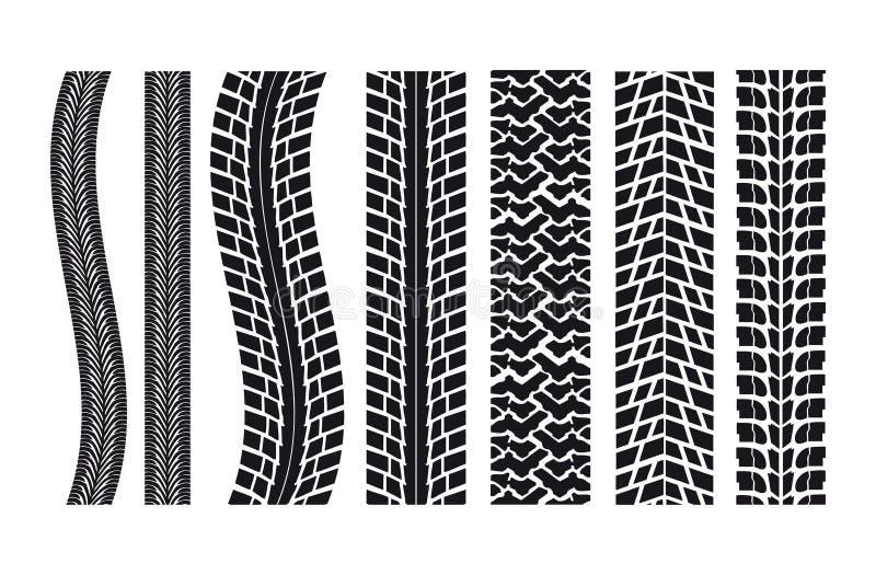 bilen imprints gummihjulet vektor illustrationer