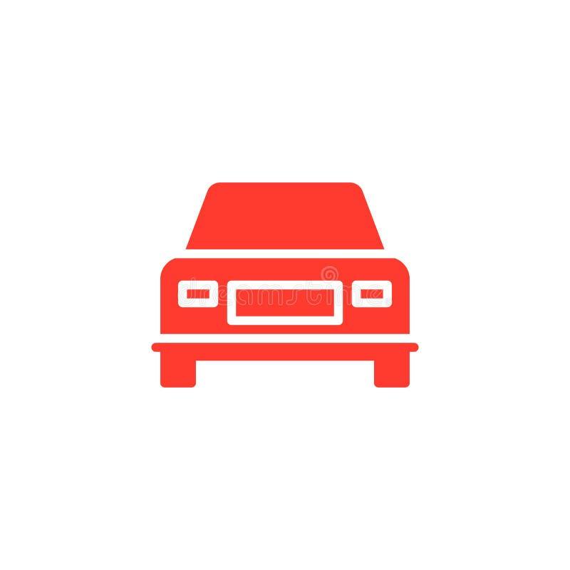 Bilen medelsymbolsvektor, fyllde det plana tecknet, fast färgrik pictogram på vit vektor illustrationer