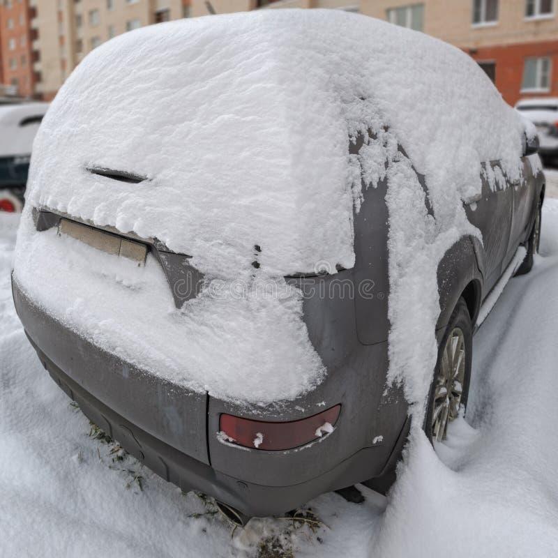 bilen räknade snow royaltyfria foton