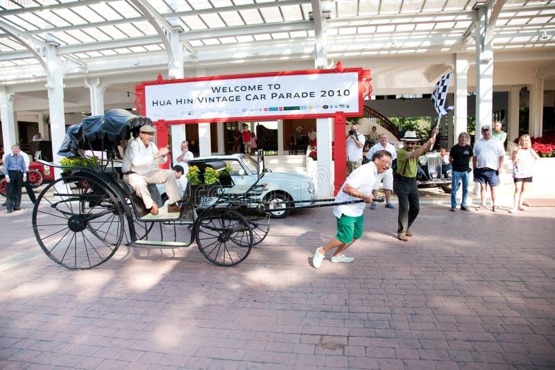 Bilen Ståtar Rickshawtappning Redaktionell Arkivfoto